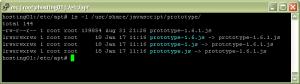 ls -l /usr/share/javascript/prototype/